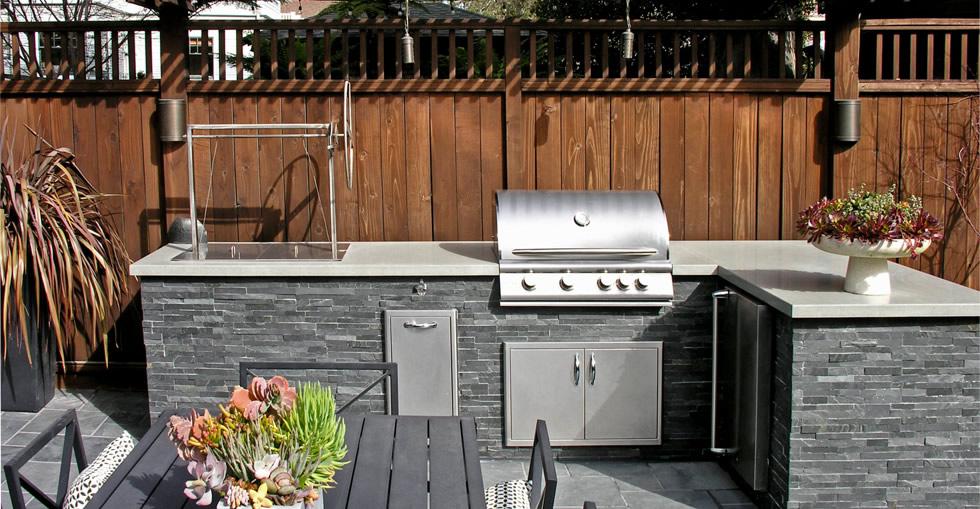 Alameda Craftsman Backyard Kitchen And Patio